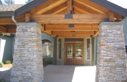 Welcoming entryway at Hospice of the Foothills