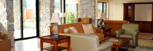 Living/common room at hospice