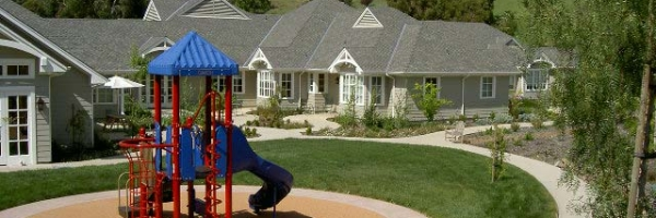 outdoor childrens playset at the hospice