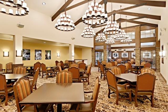 senior living facility dining room