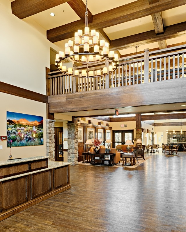 The lobby at Paintbrush Assisted Living and Memory Care Facility