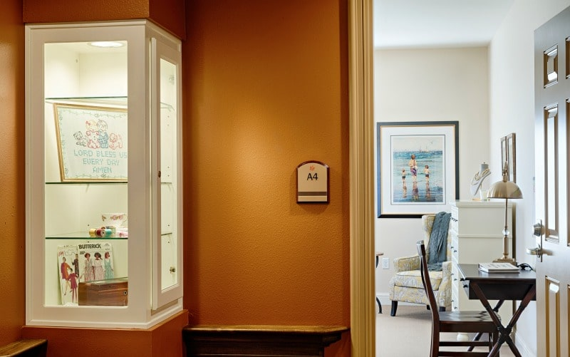 interior design of corridor to memory care area