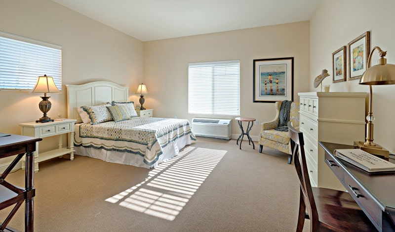 A Model Bedroom Of An Independent And Assisted Living Senior Community