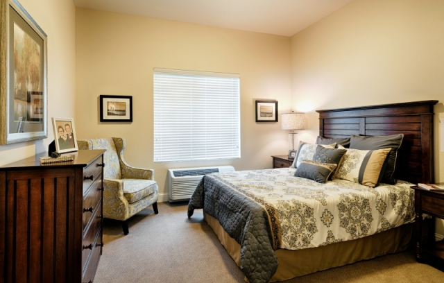 bedroom interior design at Paintbrush Assisted Living