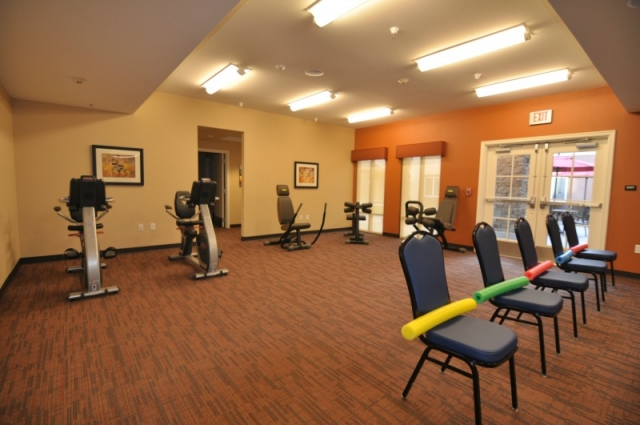 senior wellness and fitness center at Paintbrush Assisted Living