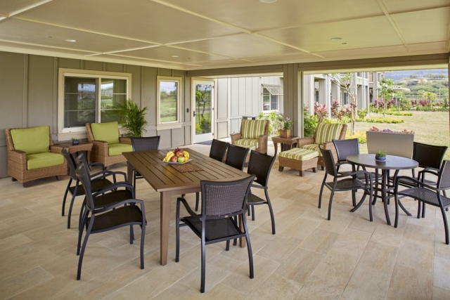 Commercial design for the outdoor living space of the senior living facility