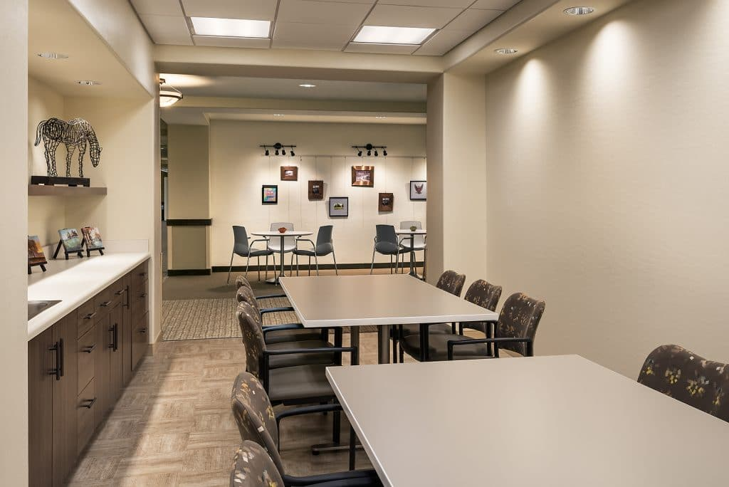 An art room at a senior living facility