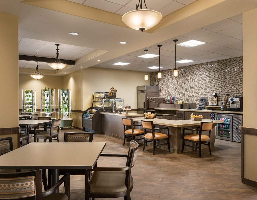 Bistro and dining options designed at The Summit at Sunland Springs