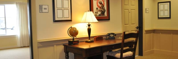 desk at memory care facility