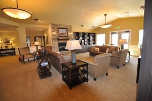 Living room at senior living home