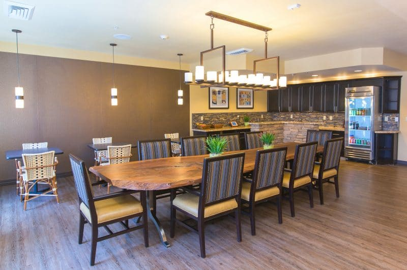 Privita dining room at Bright Water Senior Living