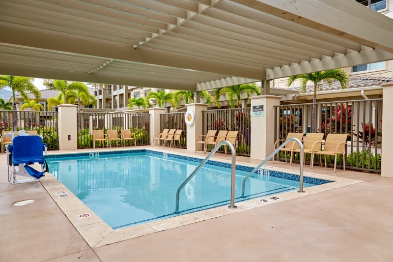 pool at Ilima at Leihano senior living community