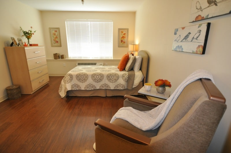 bedroom interior design at memory care community