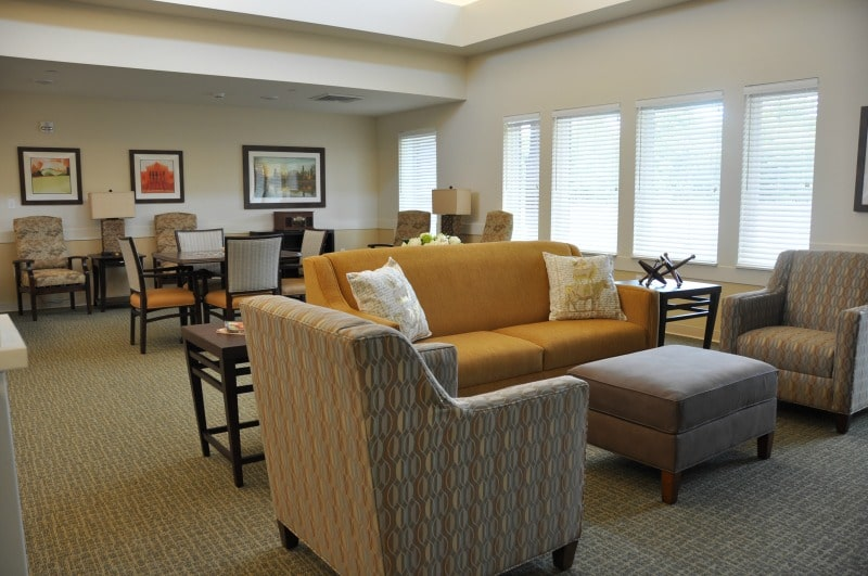 community room at a memory care facility