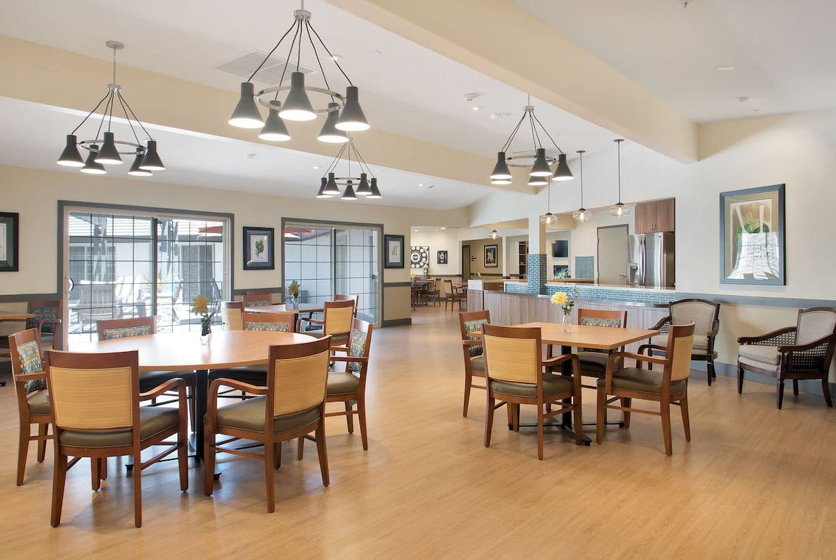 Dining Room of senior living community madonna gardens